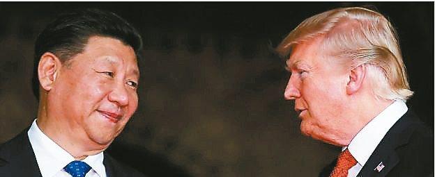 大陸國家主席習近平(左)與美國總統川普(右)。 本報系資料庫