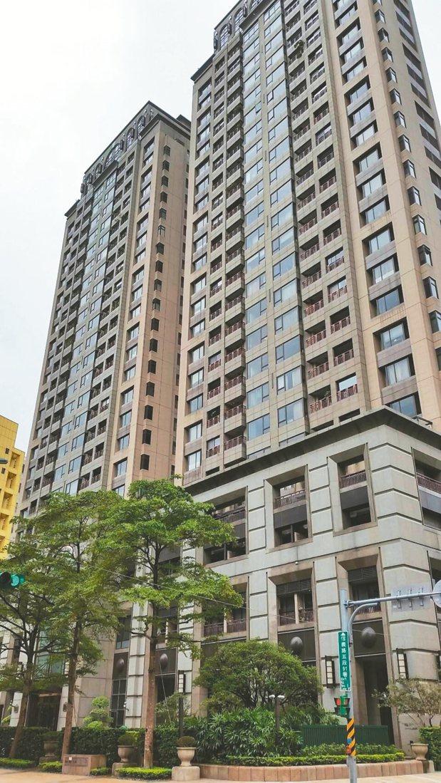 冠德遠見位於信義路五段,樓高27層,屋齡已十年,圖為冠德遠見外觀。 台灣房屋/提...