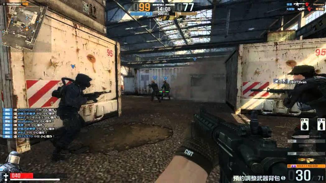 CS絕對武力遊戲示意圖。中國大陸驚傳玩CS(絕對武力)網路遊戲竟弄假成真的殺人案...