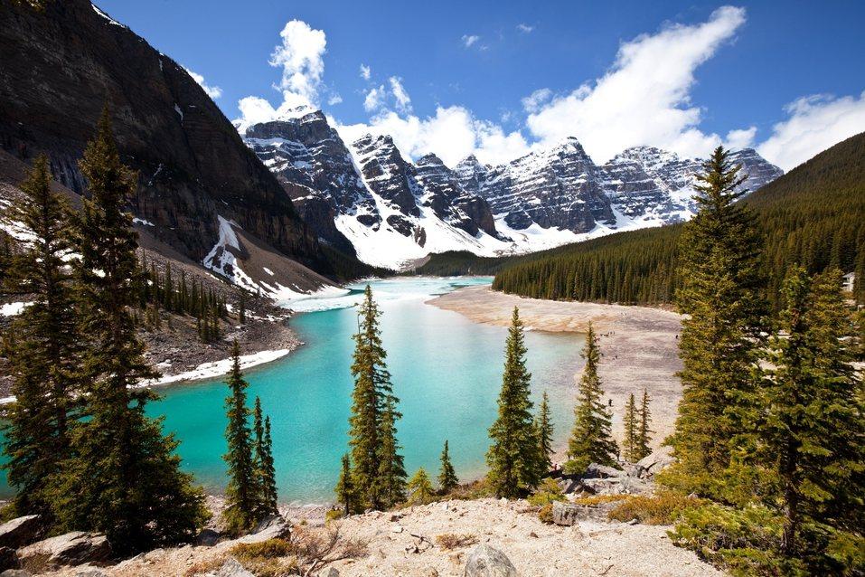 加拿大的夢蓮湖。圖/ingimage