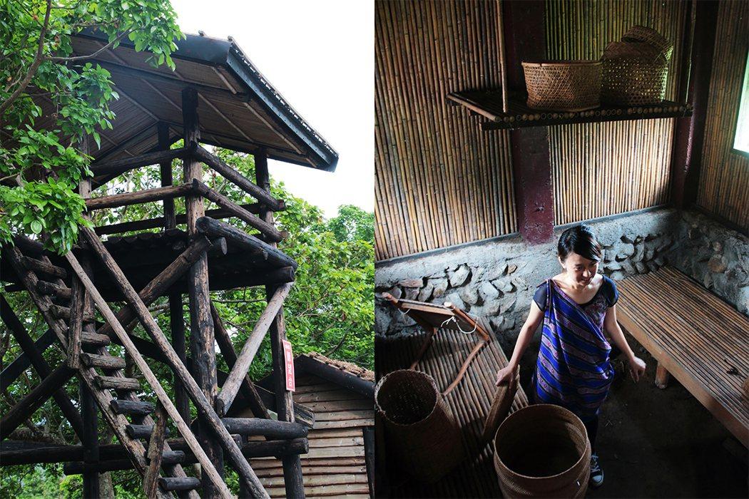 金岳部落傳統屋重現古早的生活樣貌。