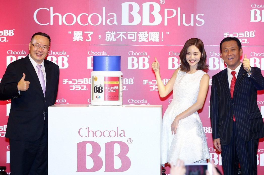 日本品牌Chocola BB邀請藝人曾之喬(中)擔任代言人,慶祝Chocola ...