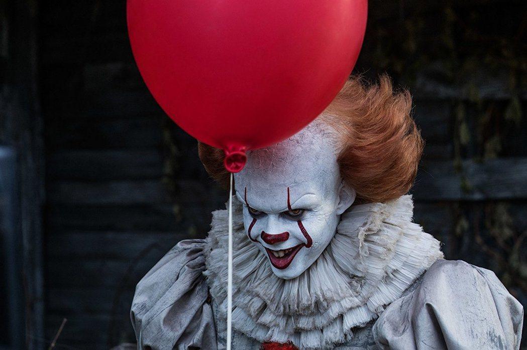 比爾史卡斯加在「牠」扮演恐怖的小丑。圖/摘自imdb