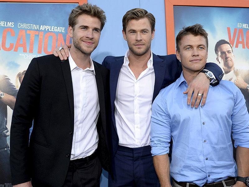 路克漢斯沃(右起)、克里斯漢斯沃與連恩漢斯沃是成功搶進好萊塢的澳州3兄弟。圖/路...
