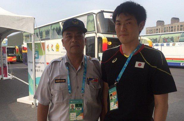 日本男牌選手遺失世大運紀念錶,警方順利找回。 記者李承穎/翻攝