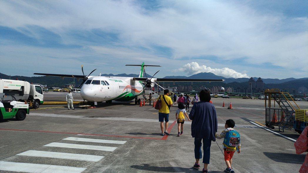 前往馬祖可以搭乘飛機。 記者楊德宜/攝影
