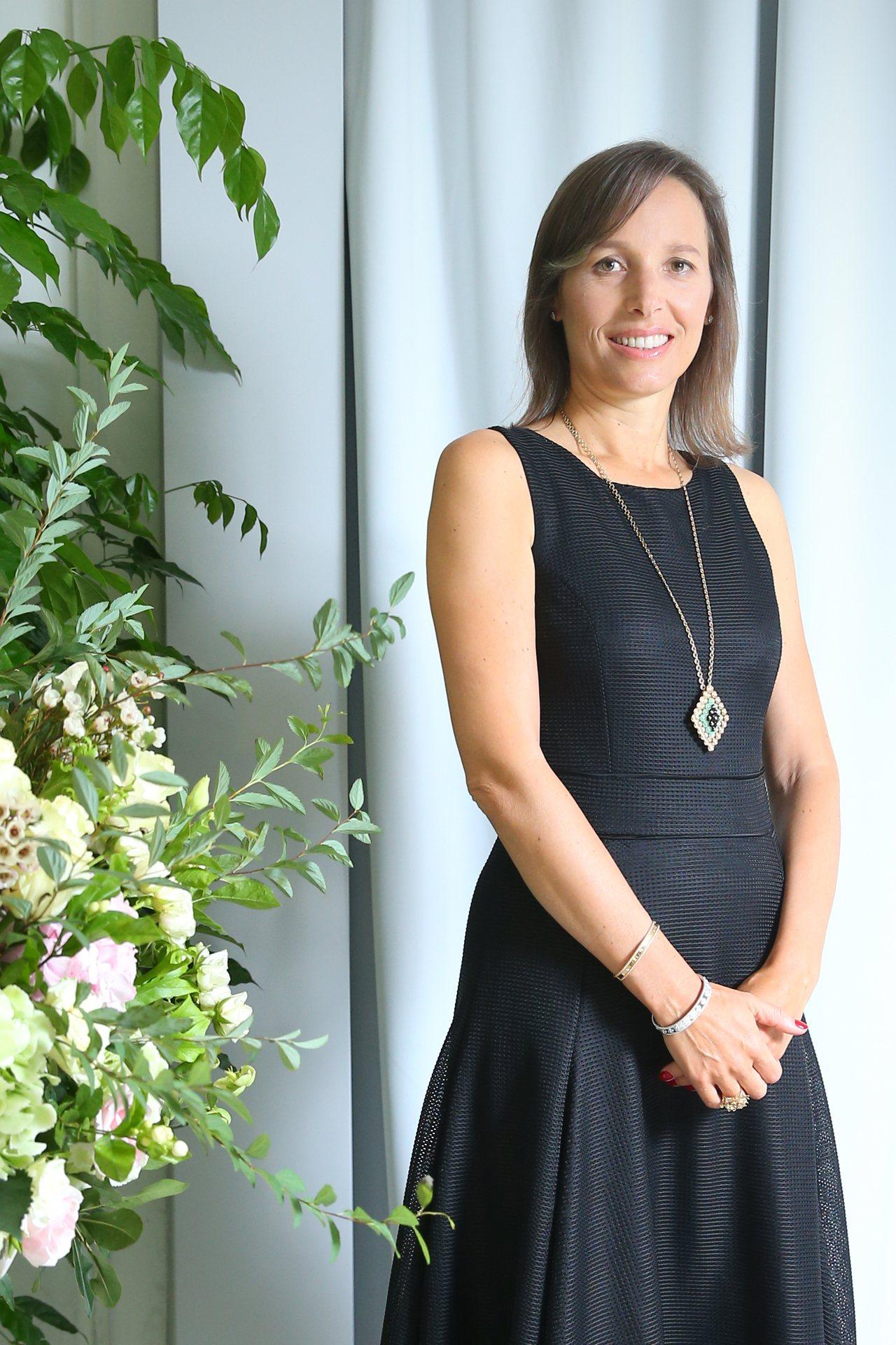 梵克雅寶亞太區總裁 Catherine Rénier接受專訪,暢談法國有的珠寶文化。 攝影/記者王騰毅