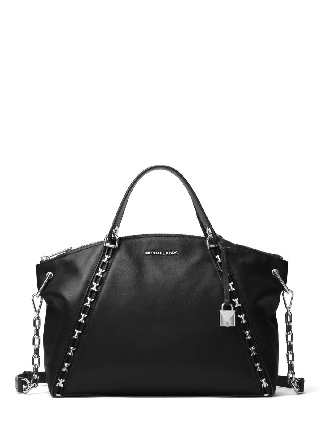 SADIE經典黑提包,售價21,700元。圖/MICHAEL KORS提供