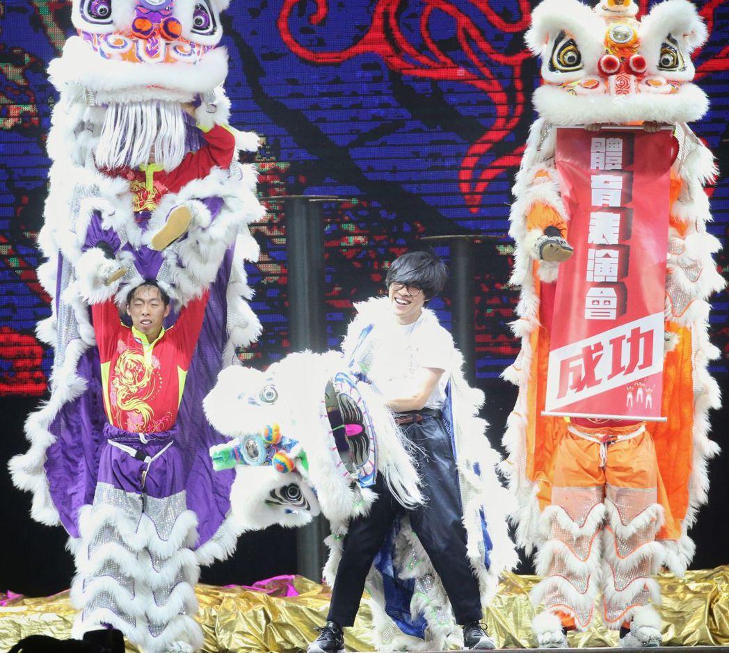 盧廣仲為了今晚的表演苦練3天。攝影/陳立凱攝
