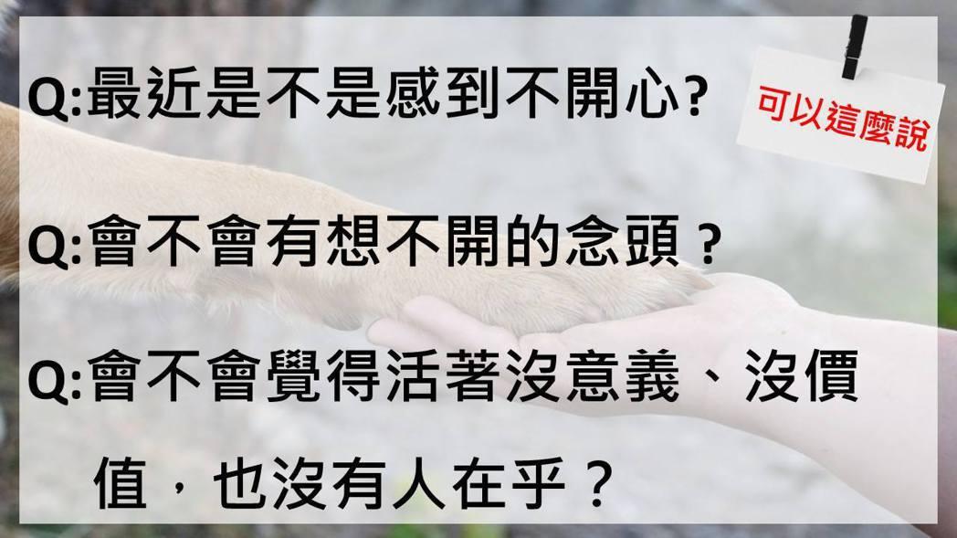 該怎麼問?圖/衛福部臉書專區