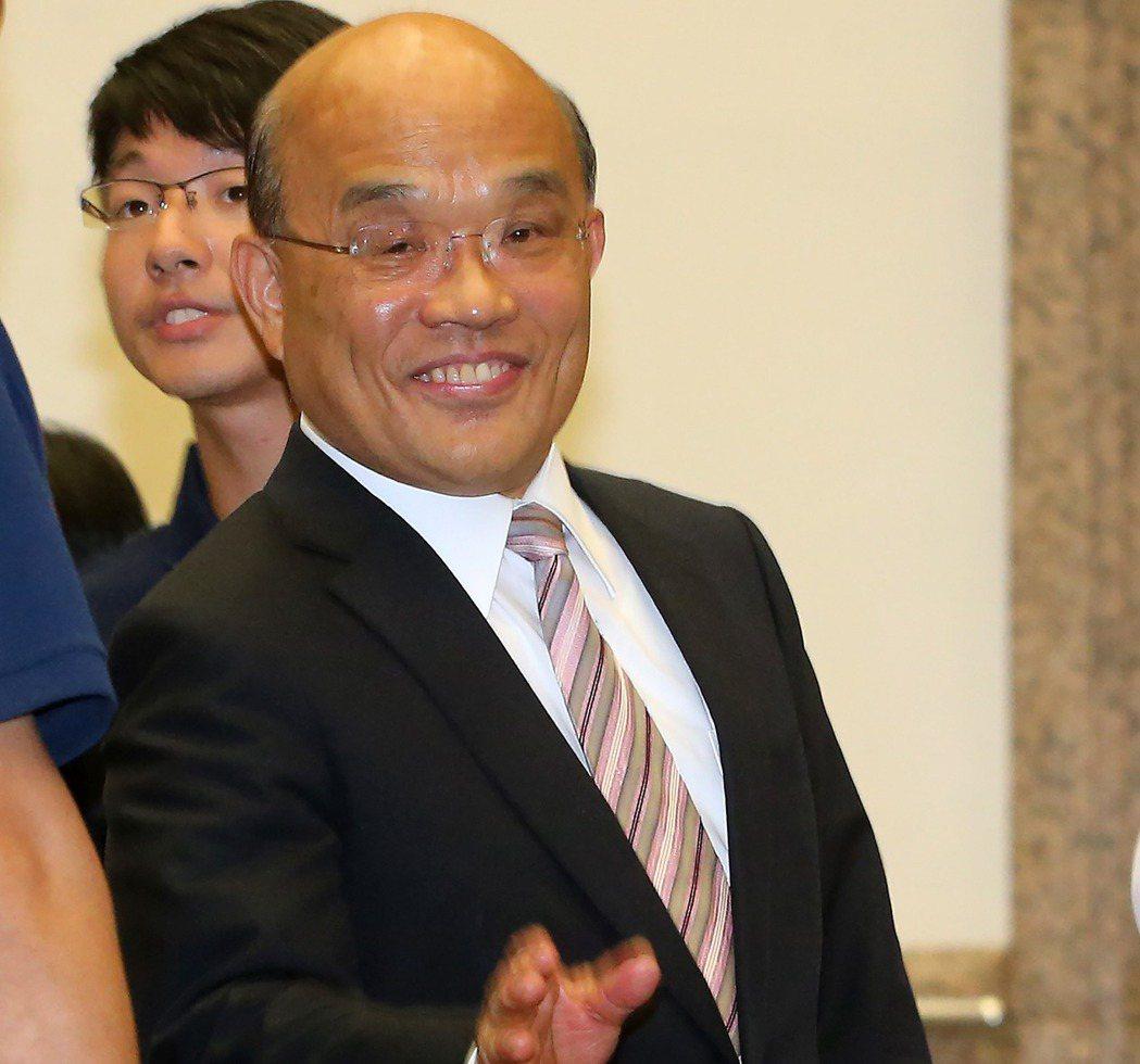 行政院前院長蘇貞昌曾說,未來若有機會,我還是不忘初衷,會繼續努力。 本報資料照片