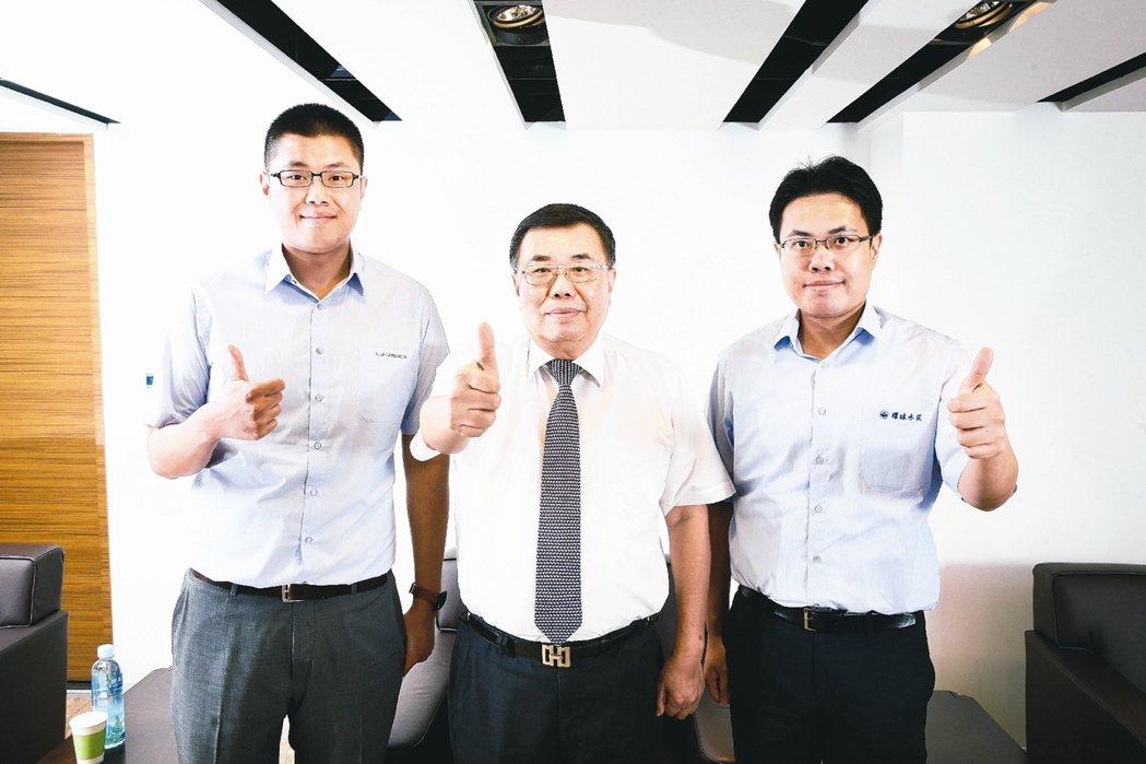 侯智元(左起)、侯博義、侯智升