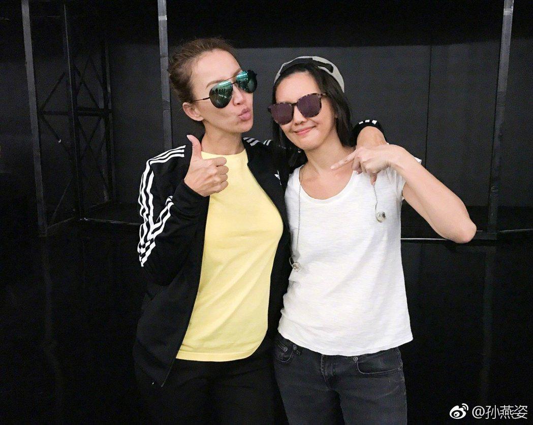 孫燕姿9日參加Coco李玟在武漢的演唱會,並擔任嘉賓。 圖/擷自微博