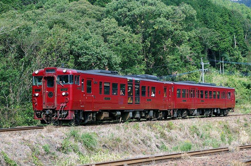 紅色的車身十分醒目,行駛的路線也是日本唯一同時保有「折返式路線」及「廻圈形路線」...