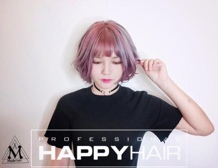 髮型創作/Happyhair青年店 - Miyasha (饅頭)。圖/HairM...