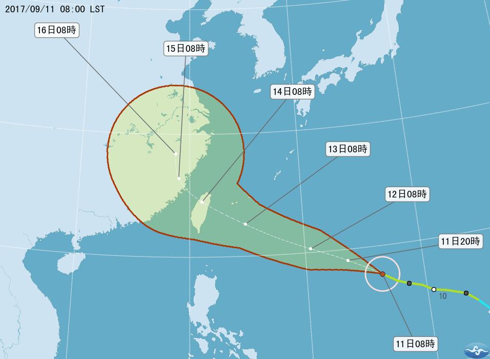 颱風泰利增強又北修 賴清德接閣揆的第一個考驗