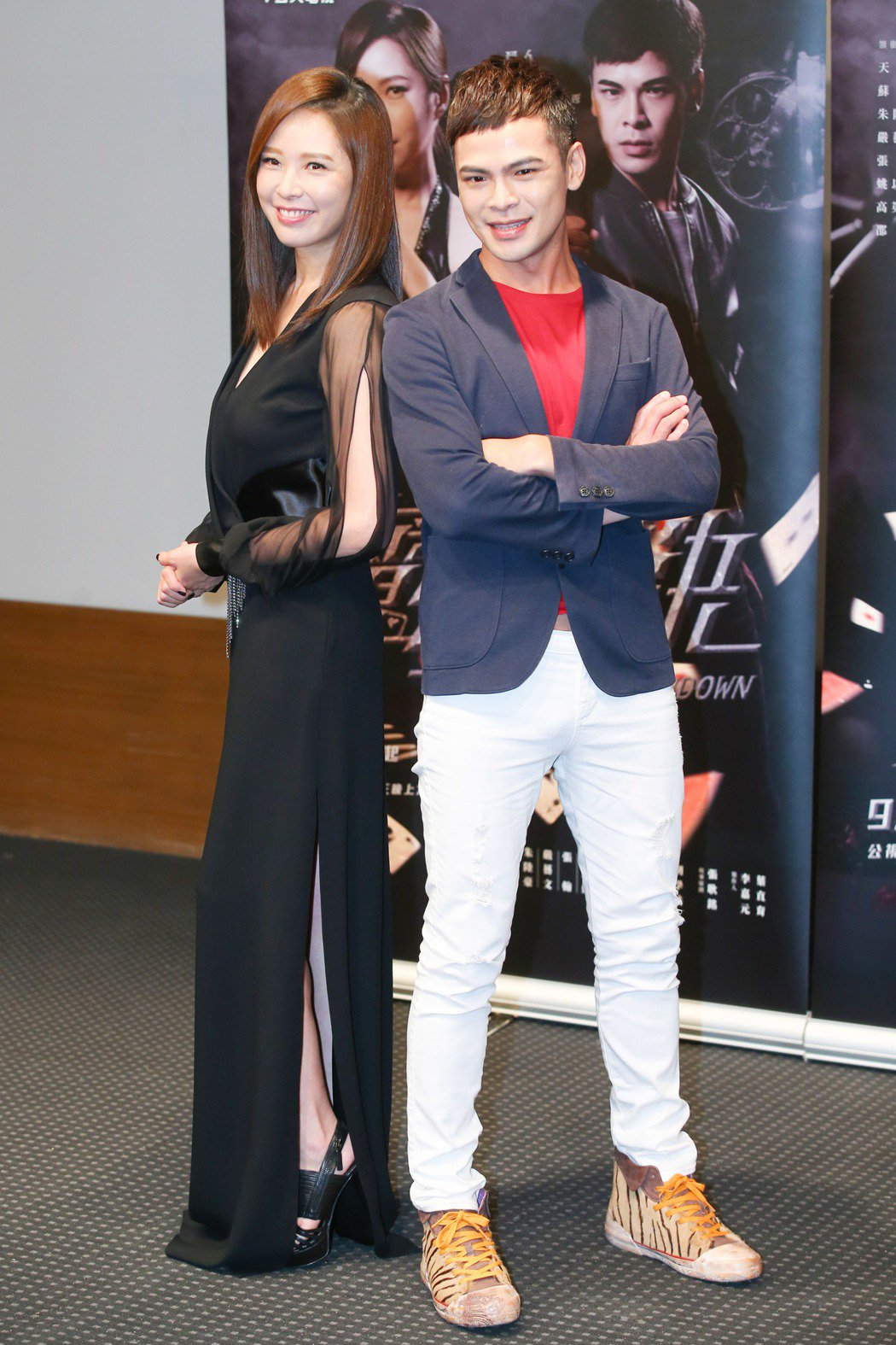 公視全新迷你劇集「魔幻對決」舉行首映會,主要演員天心(左)、蘇達(右)出席。記者...