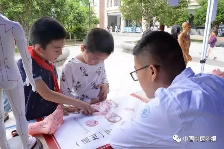 小學生學習中醫知識。 圖/取自中國中醫藥報