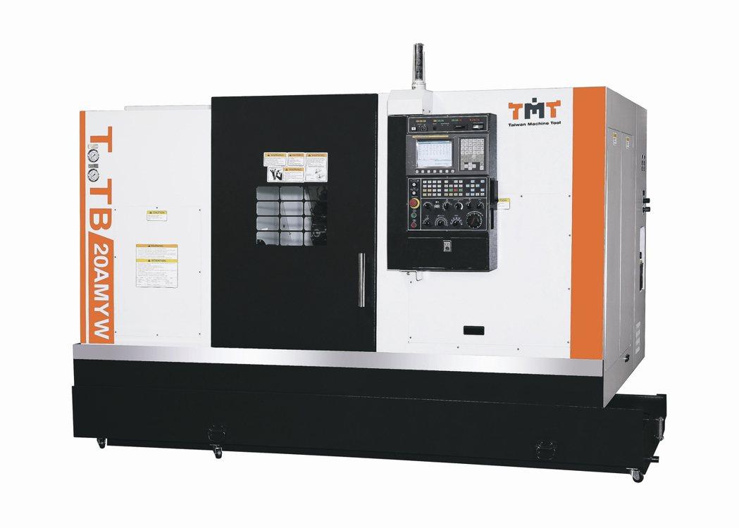 正代機械推出TTB-20MYW系列硬軌CNC車床。 正代機械/提供