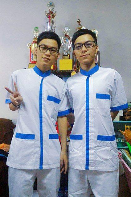 雙胞胎兄弟檔嚮往精彩社團生活而選讀長庚科大。 長庚科大/提供