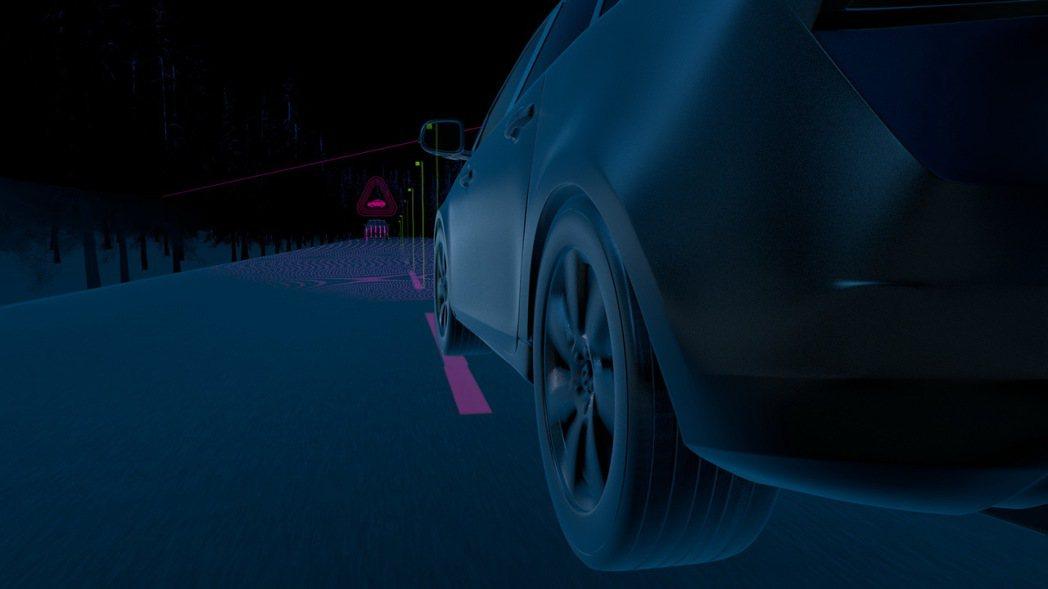 Oncoming Lane Mitigation 對向來車閃避輔助同樣結合主動轉向輔助功能,當駕駛分心以致於車輛偏離原有車道、而對向有車輛逼近時,系統會立即介入將車輛駛回原有車道。 圖/國際富豪汽車提供