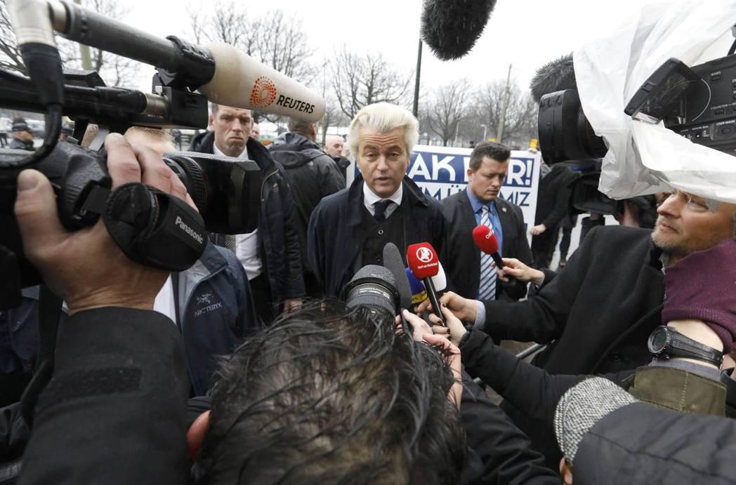 荷蘭自由黨(PVV)黨魁威爾德斯(Geert Wilders)儘管迫使主流政黨稍...