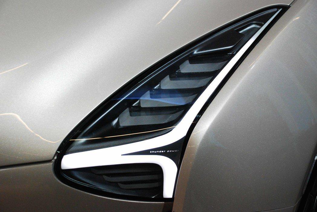 Thunder Power SUV頭燈。記者林昱丞/攝影