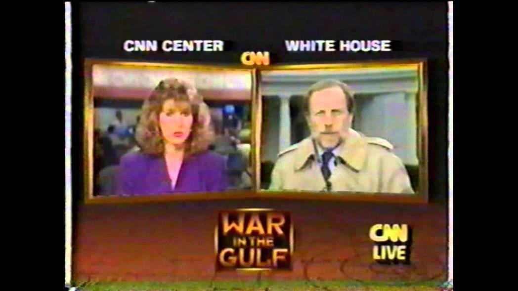 所有關心「沙漠風暴」的觀眾,全都緊盯著CNN直播,阿拉伯媒體尷尬了。 圖/截自《...