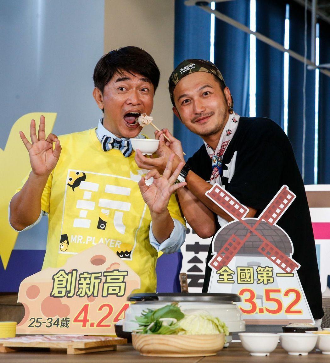 吳宗憲和Kid搭檔的「綜藝玩很大」入圍今年金鐘。 圖/聯合報系資料照