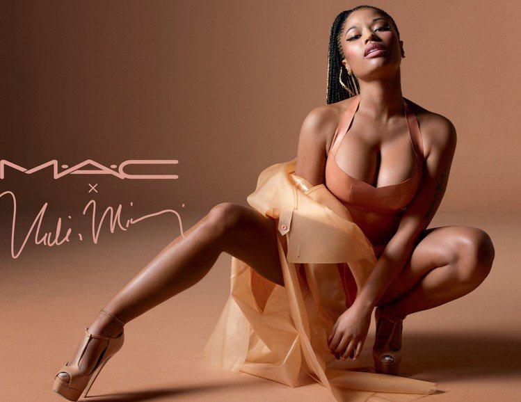 M.A.C X Nicki Minaj聯名土色唇膏系列。圖/M.A.C提供