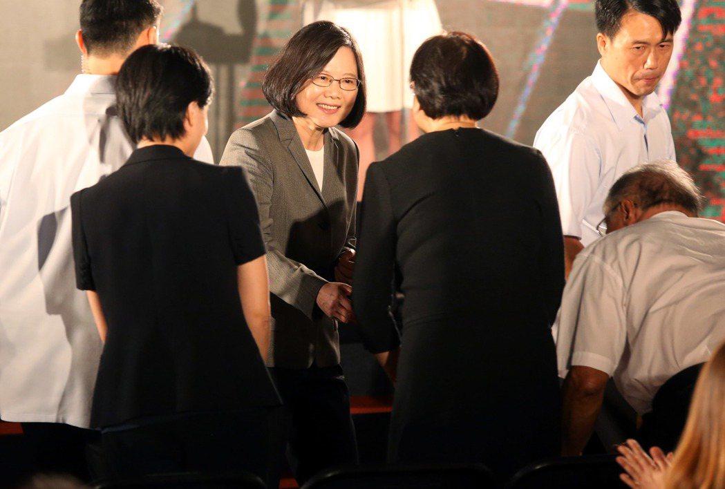 蔡英文總統下午出席2017金漫獎頒獎典禮。記者林俊良/攝影