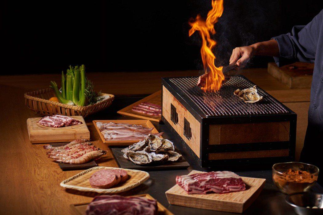台北美福飯店於戶外廣場推出應景烤肉。圖/台北美福飯店提供