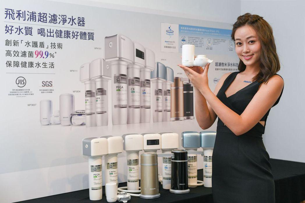 飛利浦發表龍頭式、櫥上型及櫥下型三大系列淨水器產品。(圖:飛利浦提供)