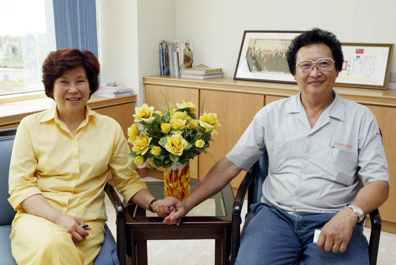 伍必翔(右)與蔣清明(左)。(聯合)