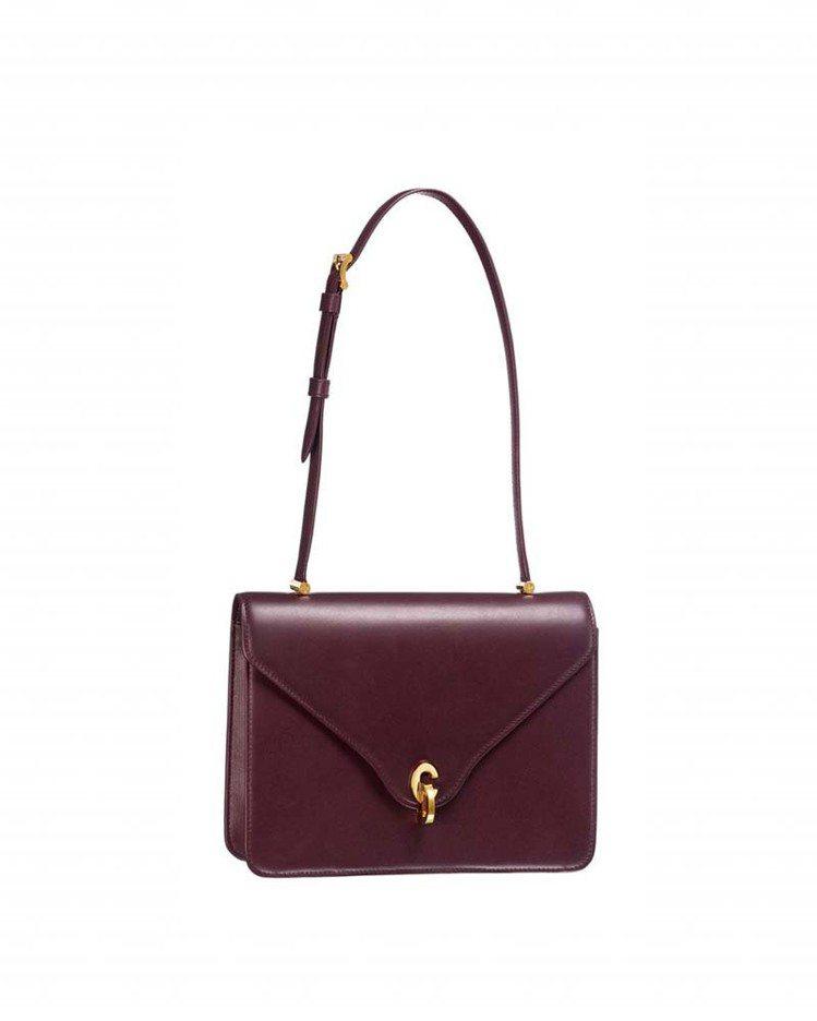 C'est Dior勃根地紅霧面小牛皮中型肩包,售價89,000元。圖/Dior...