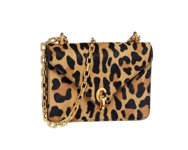C'est Dior豹紋馬毛圖騰小牛皮迷你鍊帶翻蓋包,售價97,000元。圖/D...