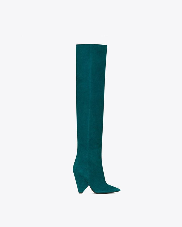 NIKI系列過膝長靴,60,350元起。圖/Saint Laurent提供