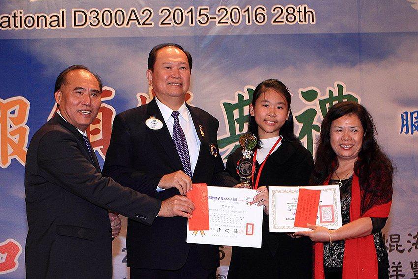 學子參加國際獅子會和平海報競賽,全球冠軍獎金達35萬。 國際獅子會台灣總會/提供