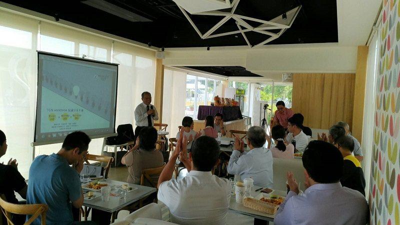 生產力建設總經理張芳民演講。 中彰投勞動力發展策略聯盟/提供