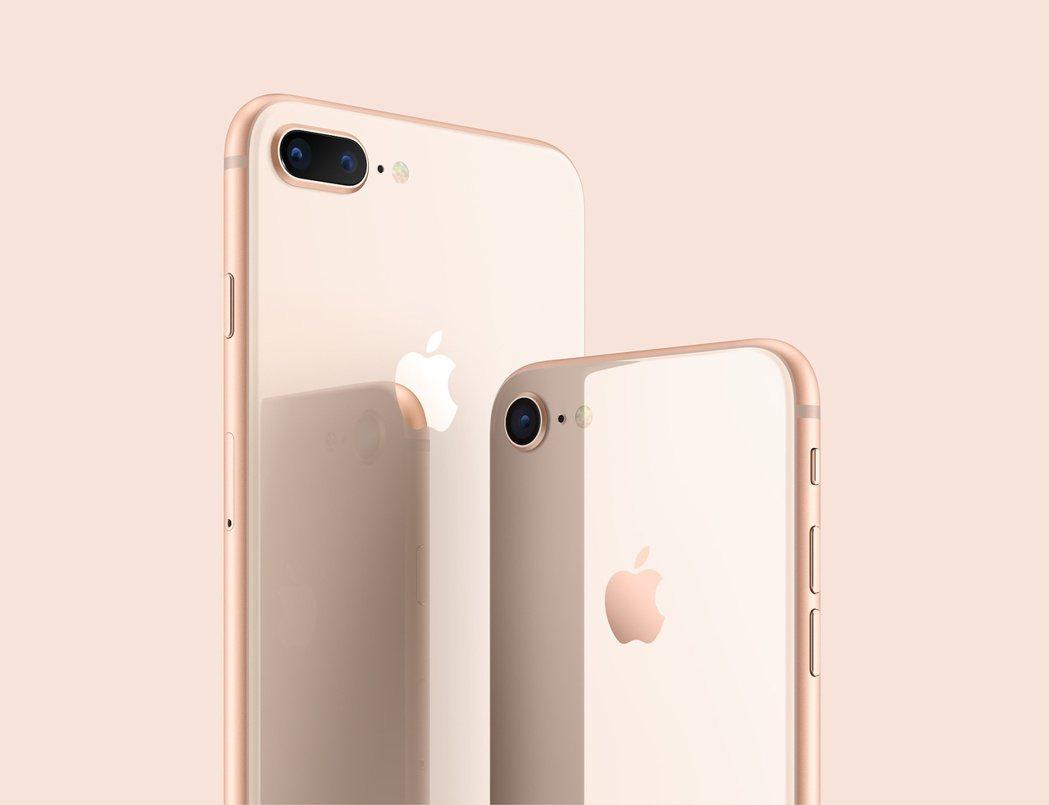 圖為iPhone8的腮紅金。(蘋果圖片)