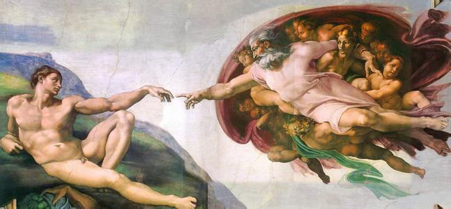 米開朗基羅的壁畫《創世紀》。 圖擷自百度