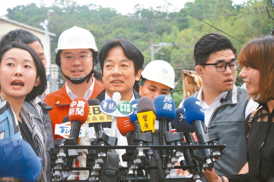行政院長賴清德表示,調薪是行政院通盤且審慎的討論之後決定的。 記者游明煌/攝影