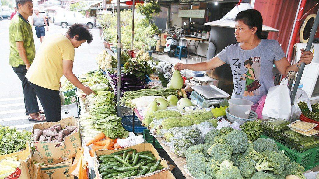泰利路徑持續偏北,讓昨天預期心理飆漲的菜價今天上午已回跌,民眾安心上市場買菜。 ...