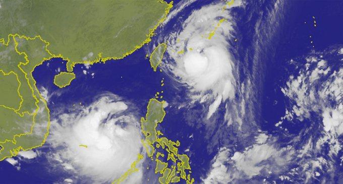 圖/中央氣象局 泰利颱風衛星雲圖