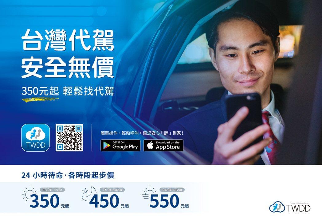 台灣代駕,安全無價優惠。 業者/提供。