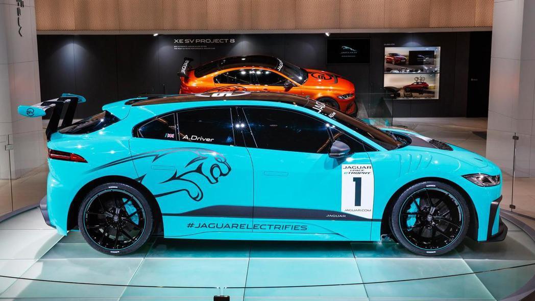 Jaguar I-Pace eTrophy 車側。 摘自Jaguar