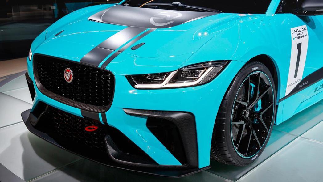 Jaguar I-Pace eTrophy 車頭。 摘自Jaguar