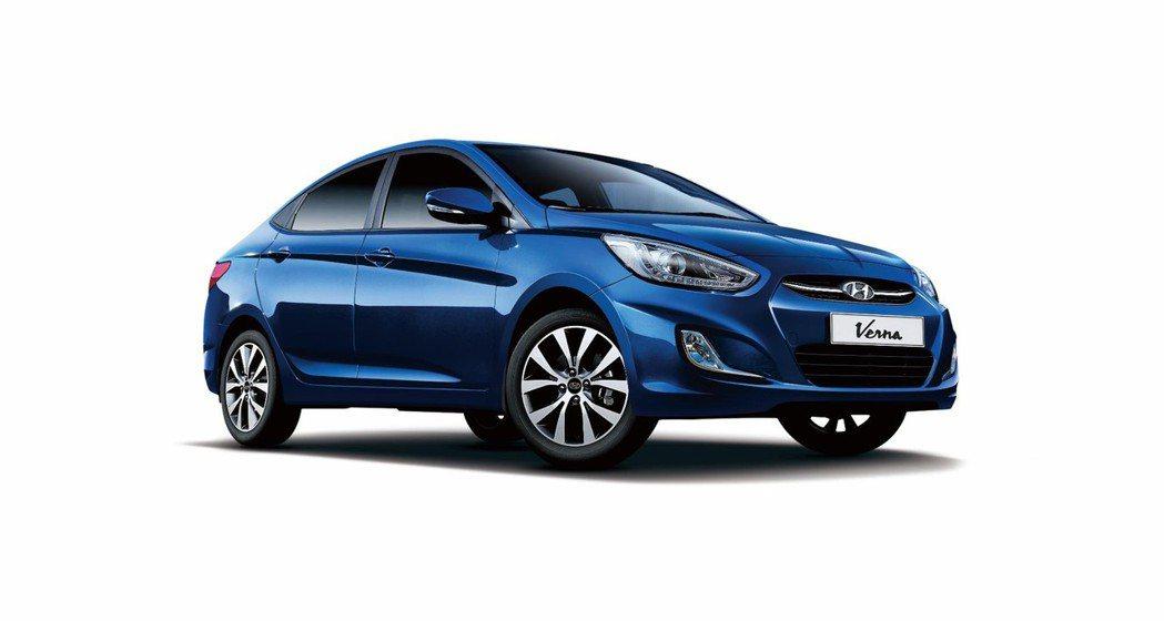 Verna小資尊爵版總值高達15.5萬。 Hyundai/提供