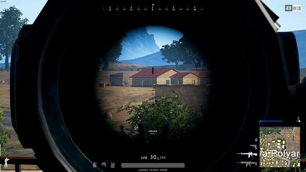 八倍瞄準器除了狙擊槍用以外,也可以用來偵查