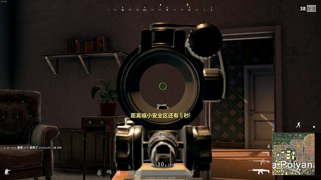 兩倍瞄準器瞄準示意圖